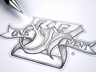 One37 two schmetzer typography one 37 lettering pencil drawing sketch