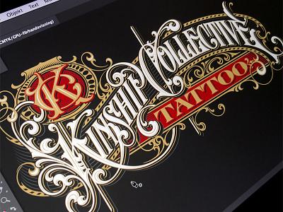 Kinship Collective vector vector lettering hand typography schmetzer