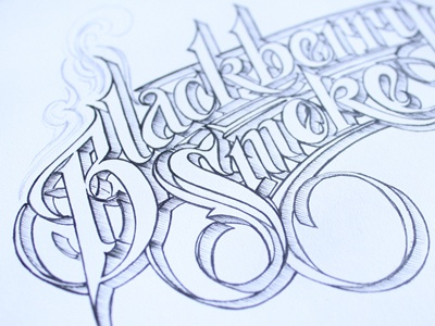 Blackberry Smoke schmetzer typography lettering ink drawing sketch black smoke southern rock