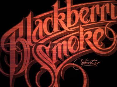 BBS 2 schmetzer typography lettering blackberry smoke southern rock band