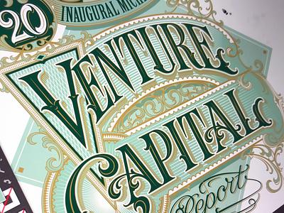 Venture Capital - progress vector lettering hand typography schmetzer
