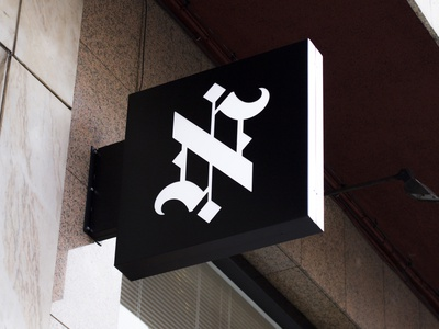 N ambigram sign notre logo schmetzer