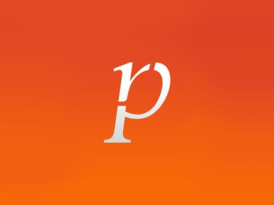 R P logo type combination