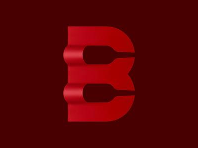 BWine negative spacing logo
