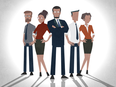 Business problem solvers character design businessmen business people