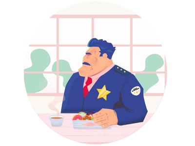 Officer Taking a break