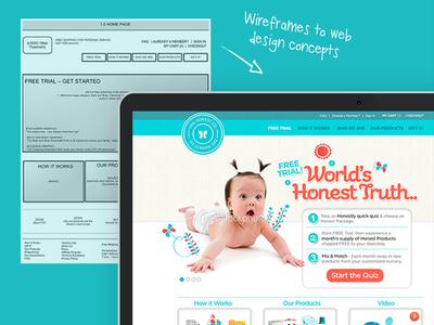 ecommerce startup branding and website