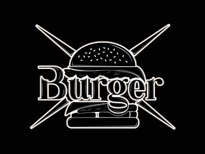 Burger done illustration design graphic typography