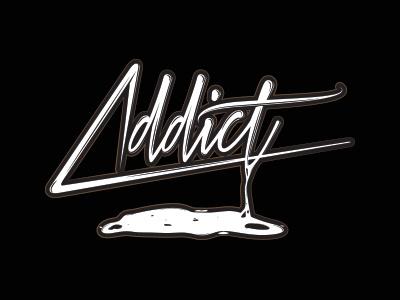 Addict illustration design graphic typo typograhy