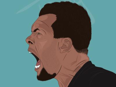 Jo wilfried Tsonga illustrator vector jo tsonga sport design graphisme portrait illustration