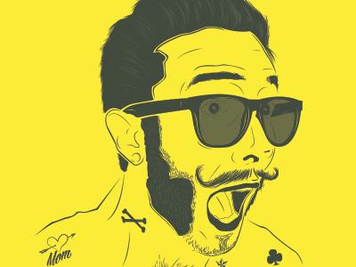 Rock Portrait line vector portrait design graphic illustration