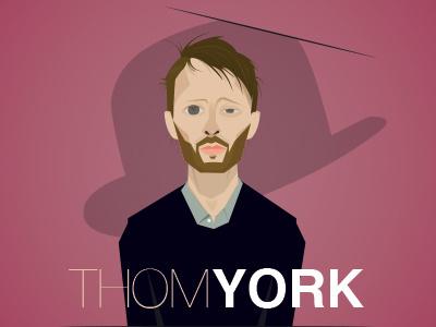 Thom york minimalist color radiohead york thom portrait illustration
