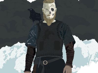 Ragnar viking art fan illustrator vecteur ragnar viking portrait illustration