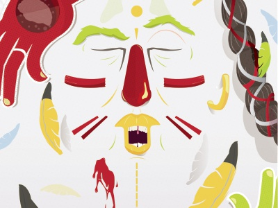 Indian color hearth soul indian portrait illustration vector