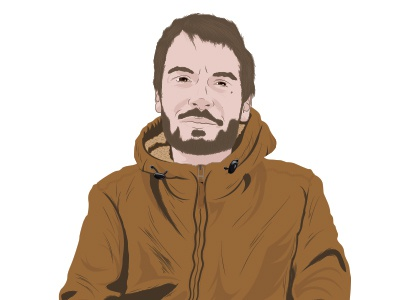 Guigui illustrator line friend illustration vector portrait