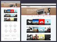 Redbeam Home Page Redesign