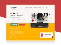 Polaroid Originals - Ecommerce Page Design