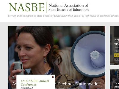 NASBE web website design