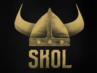 SKOL - Vikings helmet