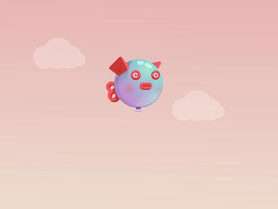 FishBalloony rive motion vector balloon fish character motion graphics animation