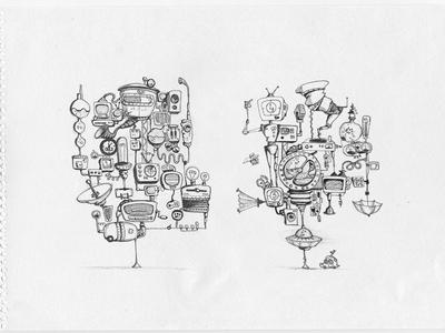 some pencil&pen sketches