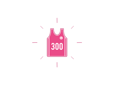 Thank you! basketball game jersey friends dribbble followers 300 thank you