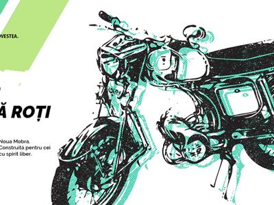 Retro Motorcycle Relaunch illustration relaunch visual key romania mobra motorcycle bike motor retro