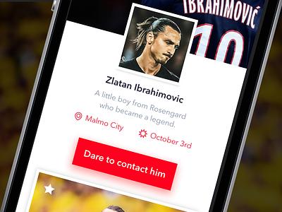 The Zlatan User Profile design zlatan interface web ui ux mobile page user profile app sketch
