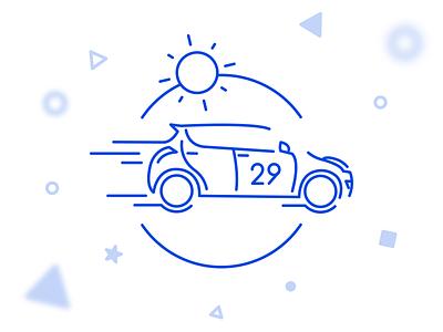 Radu's Suzuki Swift design sun sketch car outline icon illustration swift suzuki birthday