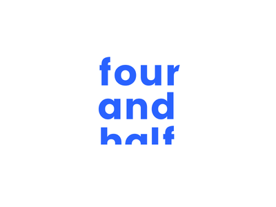 Four and half wordmark design branding bold mark symbol logo half four