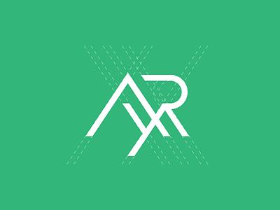 AYR / Mountains / Landscape grid geometry symbol mark branding design logo ayr