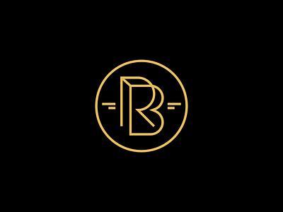 RB Jewelry design branding gold jewelry monogram rb symbol mark logo