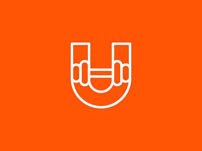 U / Weights minimal outline identity branding letter monogram weights u symbol mark logo