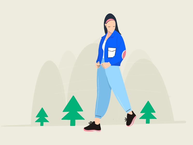 Illustration modern branding app minimal design vector ios animation illustration