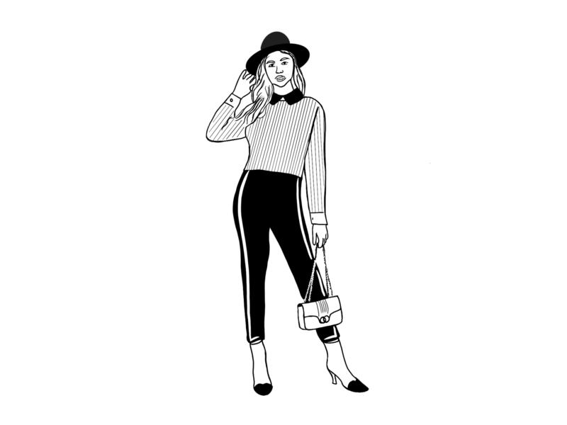 illustrations procreate app vector branding illustration illustrator white black