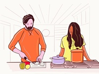 Cooking illustration kitchen chef design vector branding cooking cooking app illustraion