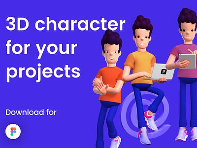 3D character kit for download design minimal branding ios animation ui kit kit free download ui8 3dillustration model 3dcharacter 3d illustration