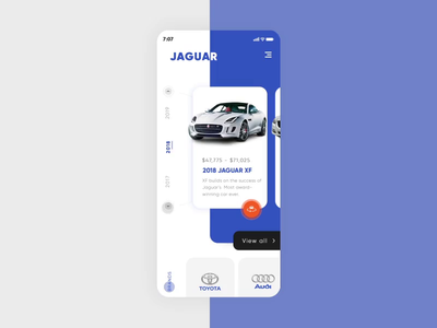 Animated app concept design