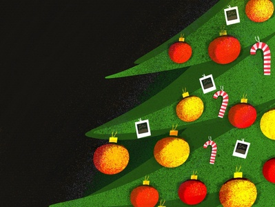 Pro create xmas tree art icon branding stroke colours drawing procreate festive xmas illustration illustrator