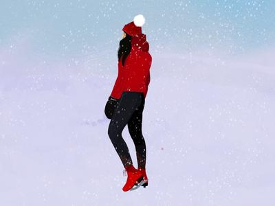 Ice skating illustration procreate illustration