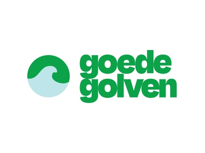 Goedegolven logo typography logo identity branding degular ohno tight wave green surf