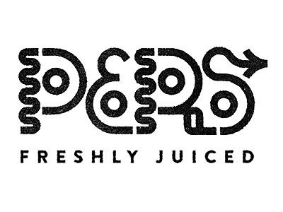 Pers logo type design type black typography identity logo juice pers press