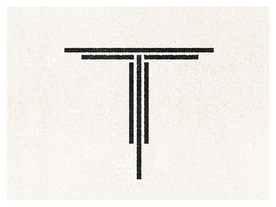 T icon letter type design typography t icon