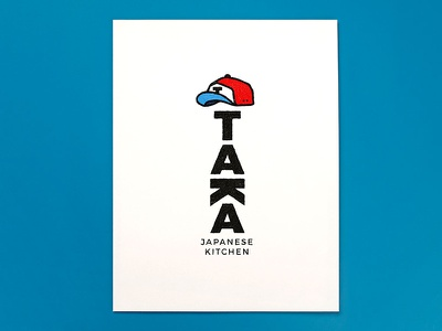 Taka Japanese Kitchen tokyo blue red hat baseball ramen food restaurant noodles kitchen japanese taka