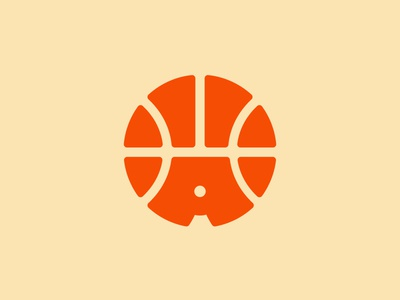 Amsterdam Basketball wip logo monogram a ball orange basketball