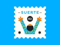 Suerte / Stamp up hands good mail sello stamp luckie luck