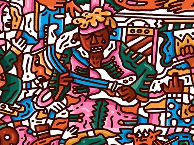 Rock & Roll pattern rockroll nirvana hendrix acdc pattern guitar rock