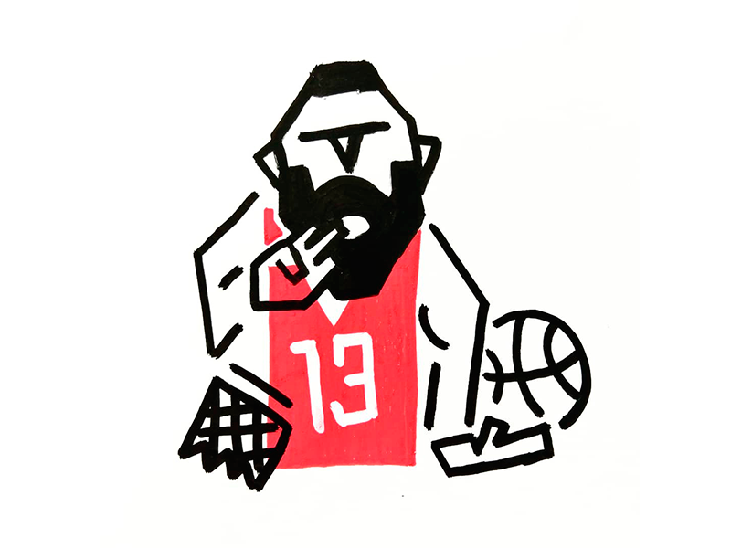 Harden beard posca harden james basketball