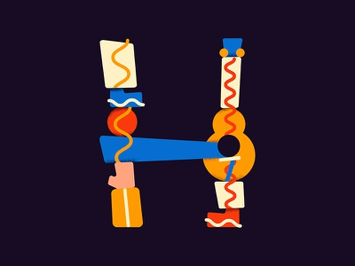 H for #36daysoftype type art h 36daysoftype 36days letter