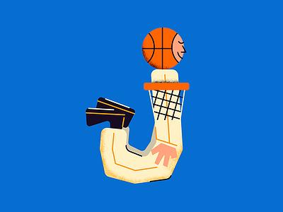 J for #36daysoftype baloncesto jumper jordan basketball basket jump 36daysoftype j letter